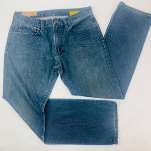 Gap 1969 Mens Jeans 32 x 32 Blue Low Rise Straight